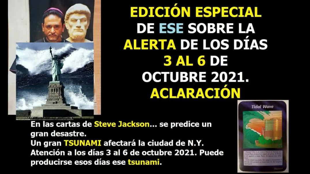 Atentos a los días 3 al 6 de octubre próximo-Aclaración