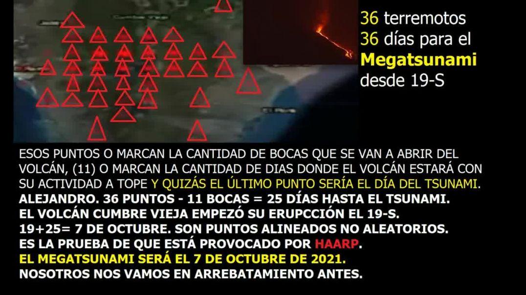 EL MEGATSUNAMI SERÁ EL 7 DE OCTUBRE 2021 SI ALEJANDRO TIENE RAZÓN Y ES UNA REVELACIÓN DE DIOS