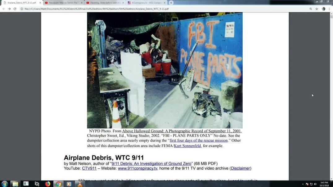 11.S.  Imágenes de restos de los aviones del WTC...  En inglés.