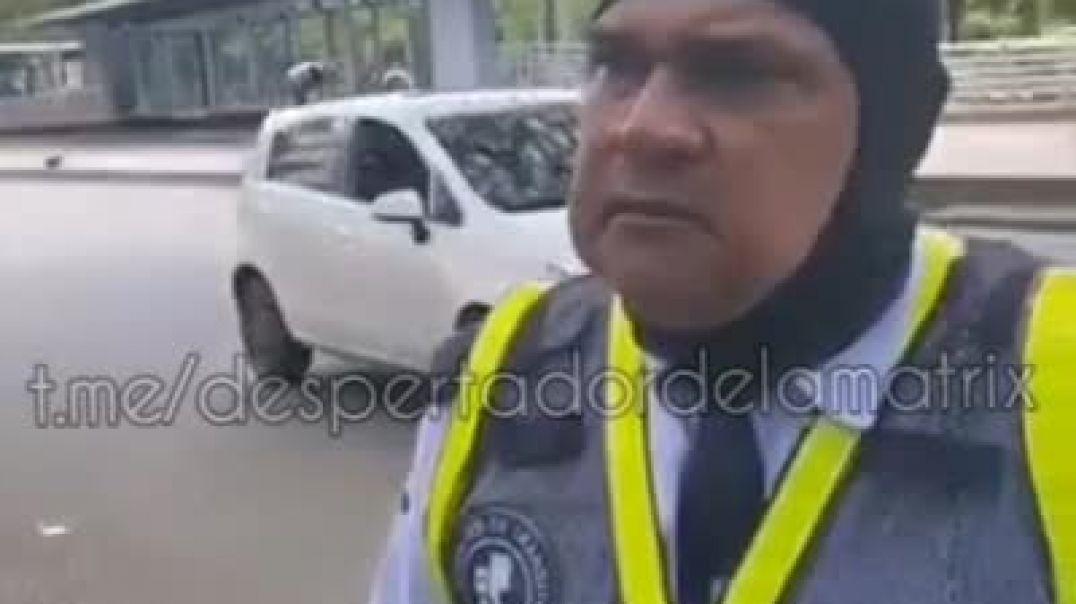 Agente de Tránsito deja clara su postura a los Nefastos Covidiotas.