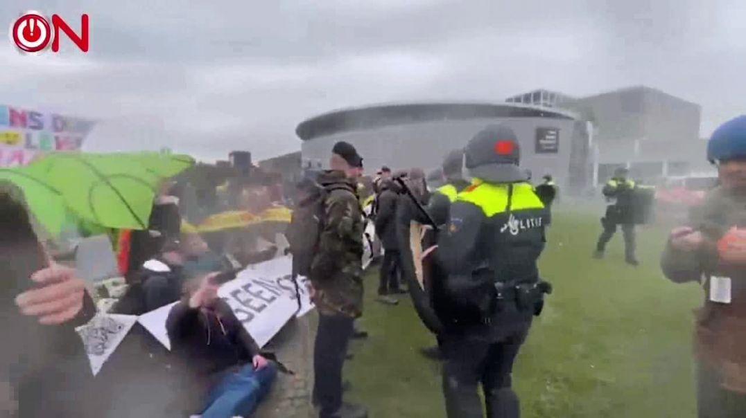 Amsterdan... Veteranos defendiendo a los manifestantes.