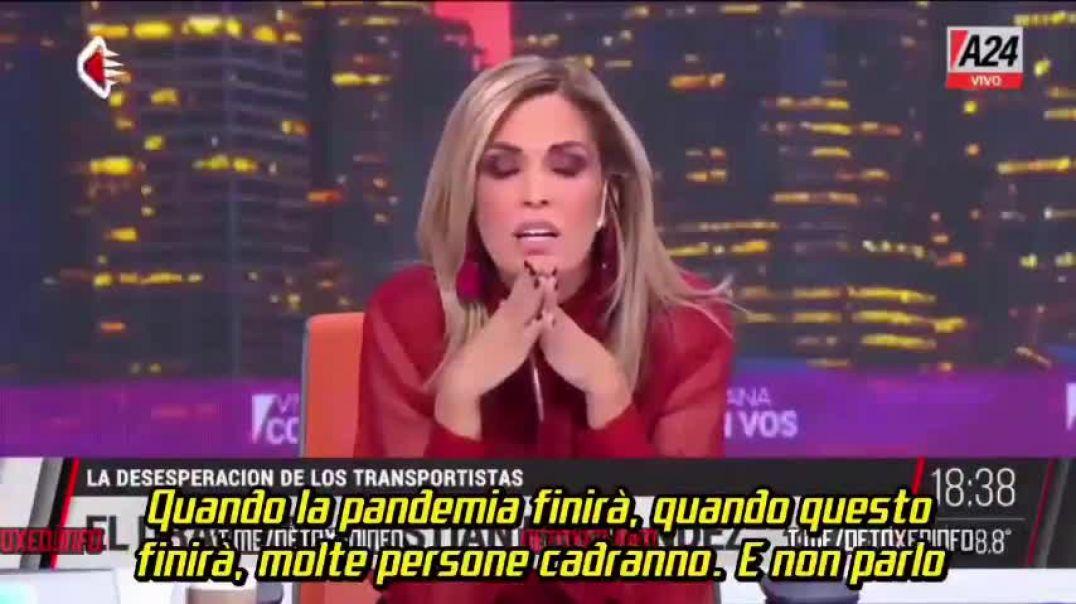 Presentadora de TV argentina Viviana Canosa hace una declaración para reflexionar esta locura mundia