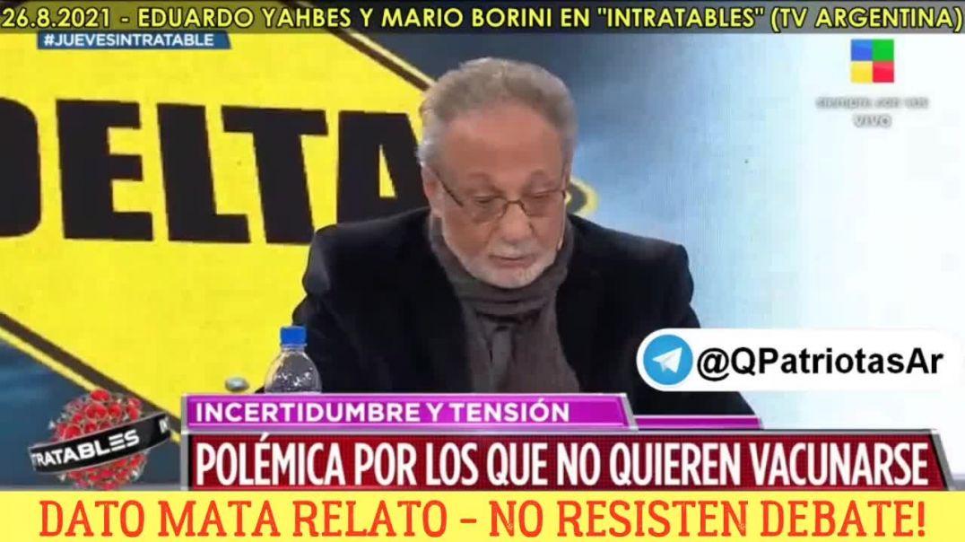 Los doctores Eduardo Yahnes y Mario Borini en el programa Intratables del canal America en Argentina