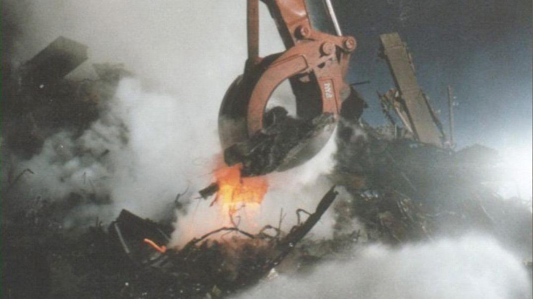11.S. Imágenes del WTC - Base de las torres ¿resultado de la roca fundida?.