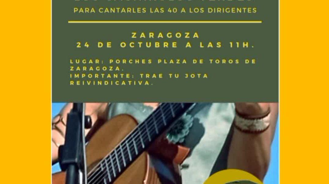 Concentración en Zaragoza de... Los Cachirulos Verdes... Mañana 24 de octubre a las 11 horas.