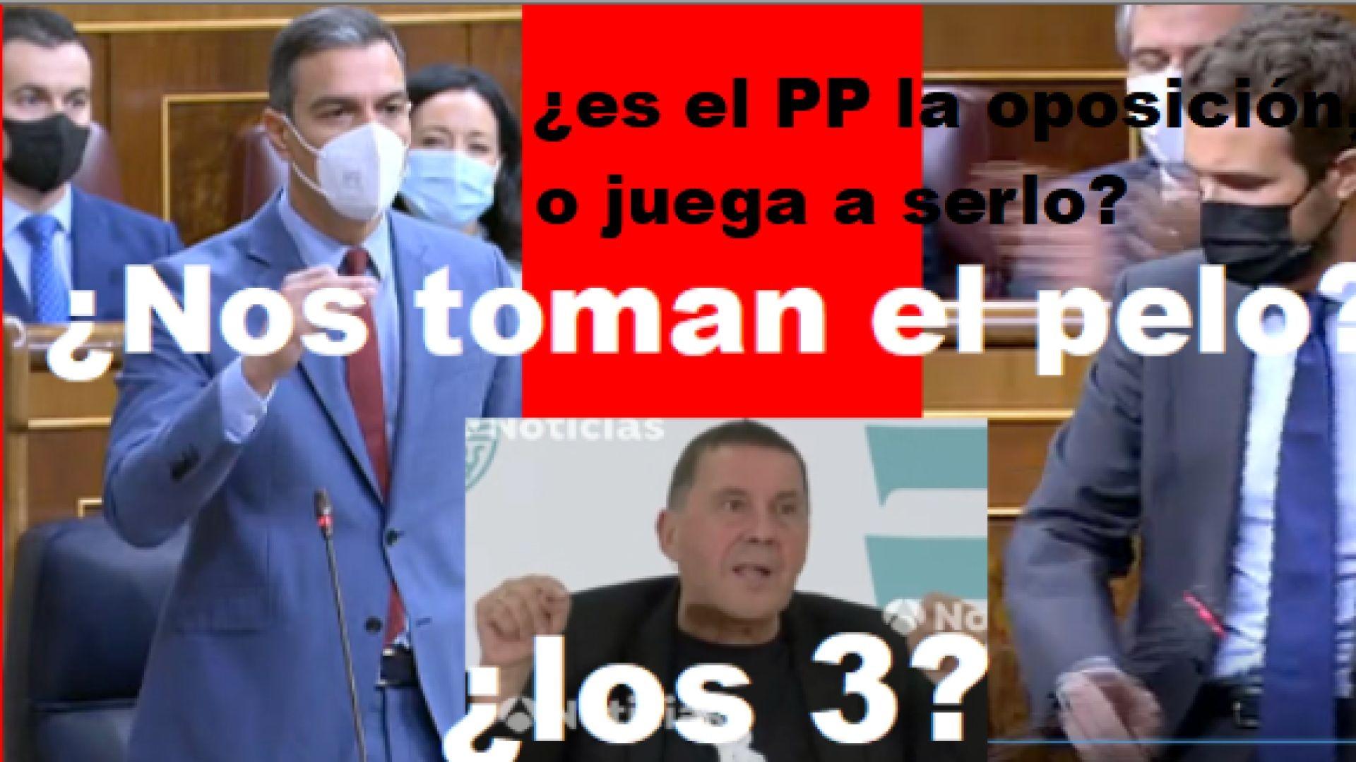 ¿Es el PP la oposición, o juega a serlo? ¿Nos toman el pelo? ¿Los 3? ¿2? ¿1?