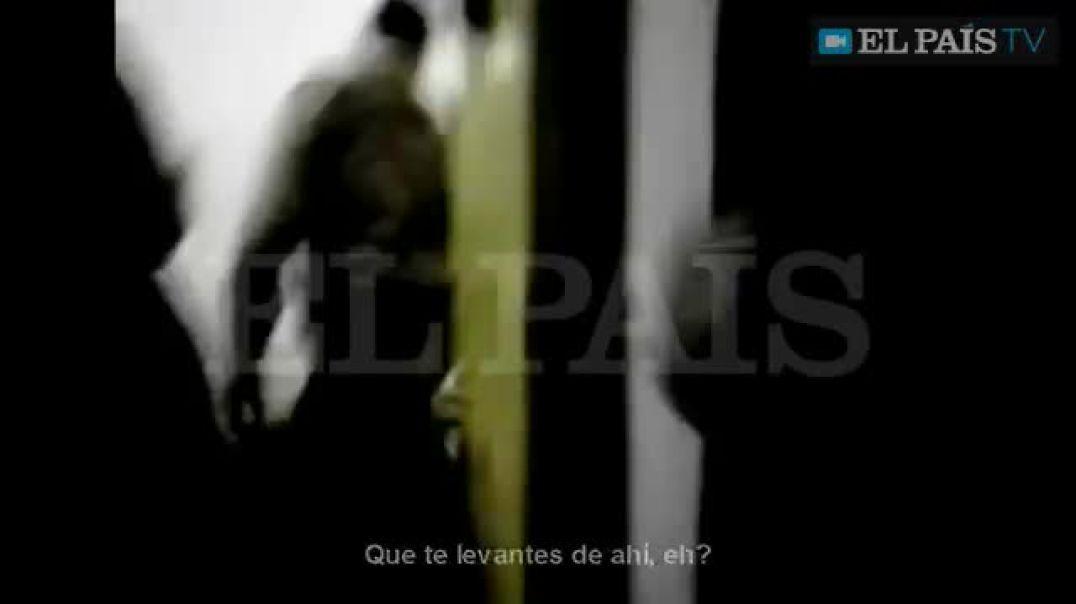 Cobardes soldados españoles torturaron a prisioneros iraquíes en Diwaniya, Iraq.