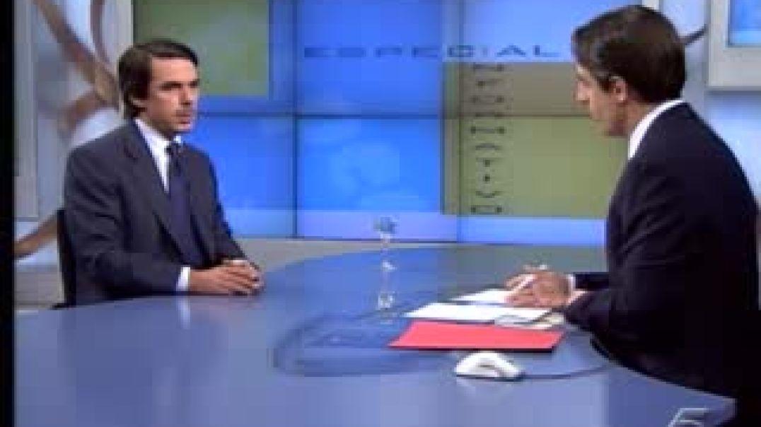 José María Aznar mintiendo sobre los atentados del 11.M.
