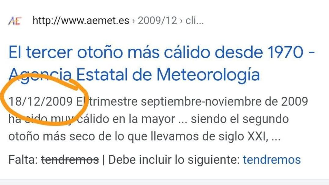EMPIEZA EL REALITY CLIMÁTICO FIN DEL REALITY SANITARIO